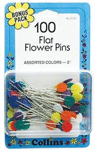 90056: Collins W-155 Flat Flower Head Pins 100ct Box