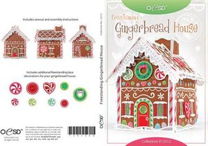 OESD 12512CD Freestanding Gingerbread House CD 3+9 FSL Embroidery Designs