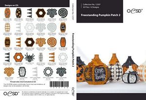 79818: OESD 12597CD Freestanding Lace Pumpkin Patch 2 Embroidery Designs CD
