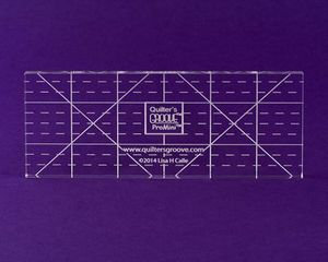 Quilter's Groove PROMINI Ruler Template 2-1/2inx6in