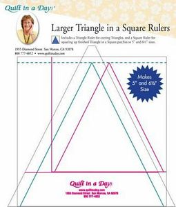 Quilt in a Day QD2036 LG Triangle in a Square Ruler