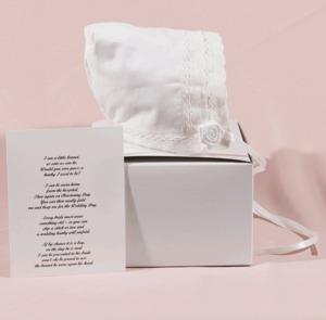 90157: Audrey Grace Lace Bonnet with Gift Box