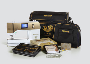 Bernina 770QE GOLD Quilters Edition Computer Sewing Machine 327Stitches, 50Quilting, Dual Feed, BSR, 4 Memories, Patchwork Foot, Optional Emb Module