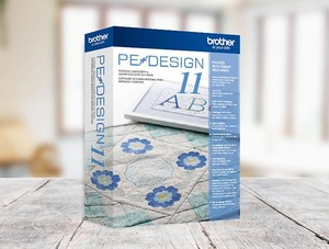 54439: Brother PEDESIGN10 PE Design Palette v10 Embroidery Digitizing Software