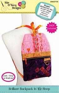Sue O'Very Designs Brilliant Backpack In the Hoop for 8 x 12 Hoop CD