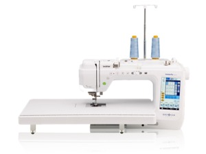 90203: Brother BQ3050 Quilt Club Sewing Machine + 2 piece custom luggage and dust cover SASEB. Replaces VQ3000