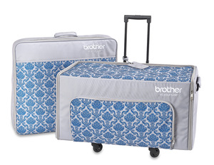 Brother SASEBXP1 Two Piece Rolling Bag Trolley Luggage Set for Luminaire XP1, BL Solaris. Plus zippered accessory bag for box, and machine dust cover