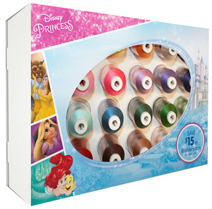 Brother ETPPRIN24, Disney Princess Thread Kit for Embroidery Machines