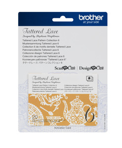 Brother CATTLP06 Tattered Lace Collection 6- for New Scan N Cut SDX225