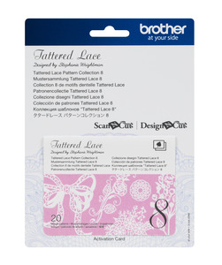 Brother CATTLP08 Tattered Lace Collection 8- for New Scan N Cut SDX225