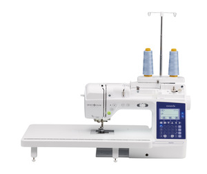 "Babylcok Lyric, Brother BQ950, Quilt Club, 240 Stitch, Sewing Machine, 8.3"" Arm, Replacing NQ900, 10 Buttonholes, Wide Table, Thread Stand, Quilters, Bundle Rolling Bags*"