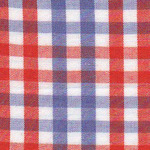 Fabric Finders T92 Orange and Purple Check Fabric by the yard