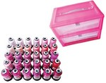 Floriani FSP-PINKBOX 30 Shades of Pink Thread Box with Pink Thread Storage Box