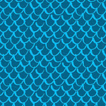 Blank Quilting Points of Hue 9989-75 Turquoise Scallop Geo