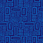 Blank Quilting Points of Hue 9990-77 Navy Rectangle Geo