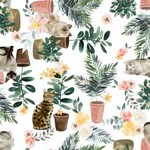 EE Schenck 3WI18037-WHT-CTN-D Everyday is Caturday Plants