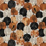 Studio E Fabrics SEF5717-93 SPOOKY NIGHT - DAMASK PUMPKINS
