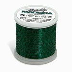 Madeira MM-358 Metallic No. 40 Embroidery Thread, 220 Yds. Smooth Green, Box of 5 Spools
