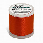 Madeira MR4-1379 40wt Rayon Thread 220 Yds. Orange Red, Box of 5 Spools