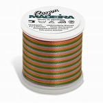 Madeira MR4-2143 40wt Rayon Thread 220 Yds. Multicolored Medium Green, Purple, and Gold, Box of 5 Spools