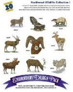Great Notions 1143 Northwest Wildlife I Embroidery Designs Multi Formatted CD