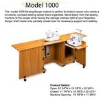 "Sylvia 1000 Dual Machine Sewing Serger Cabinet, W84"" x D20"" x H29-3/4"""