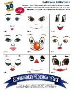 Amazing Designs AD1078 Great Notions Doll Faces Embroidery CD Multi Format