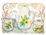 Dalco Teapot Collection Applique Designs