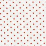 """Fabric Finders 15 YD Bolt 9.99 A YD #108 Pique 100% Pima Cotton Fabric White Material With Small Red Dots 60"""""""