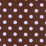 """Fabric Finders 15 Yd Bolt 9.34 A Yd Twill #416 Brown With Purple Dots 100% Pima Cotton Fabric 60"""""""