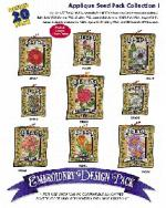 Amazing Designs / Great Notions 1178 Applique Seed Pack I Multi-Formatted CD