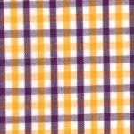 "Fabric Finders15 Yd Bolt 9.34 A Yd T17 Gold, Purple, And White Tri- Check 100% Pima Cotton 60"" Fabric"