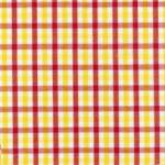 "Fabric Finders 15 Yd Bolt 9.34 A YdT37 Red, White, And Yellow Gingham Plaid 100% Pima Cotton 60"" Fabric"