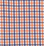 """Fabric Finders 15 Yd Bolt 9.34 A Yd  T12  Orange Blue Gingham Plaid 100% Pima Cotton 60"""" Fabric"""