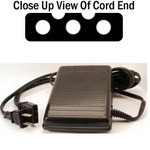 26127: AlphaSew P31​9003-003 Foot Control Pedal with 3 Pin Plug In Lead Cord YUK3S + 2 Prong Power Cord