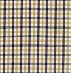 """26726: Fabric Finders 9.34 Yd T57 Gold, Black, And White Tri- Check 100% Pima Cotton 60"""" Fabric"""