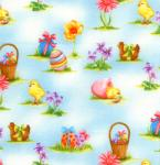 """Free Spirit HM33Blue 15 Yard Bolt @ 7.34 A Yard Easter Collection 100% Cotton 45"""" Wide"""