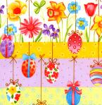 """Free Spirit HM 34 Multi 15 Yard Bolt @ 7.34 A Yard Easter Collection 100% Cotton 45"""" Wide"""