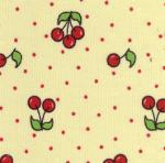 Fabric Finders 15 Yd Bolt 9.34 A Yard  CD4 Cherries on Yellow Corduroy 100 percent Cotton 60 inch