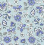 Fabric Finders 15 Yd Bolt 9.34 A Yd 1043 Blue Floral100% Pima Cotton 60 inch Fabric