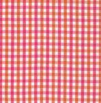 Fabric Finders T85 Orange/Raspberry Check 15 Yd Bolt 9.34 A Yd 100% Pima Cotton Fabric