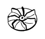 Hoover H-38755012 Fan, with Lip for Conquest 7069/7071, Lexan Fan