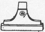 Rexair R-1847 Upholstery Nozzle, W/Out Bristles D2-D3C Brown