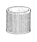 "Shop Vac Replacment Svr-1810 Filter, Cartridge ShopVac 6"" Tall 7"" Diameter."
