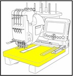 """38593: Janome 770814106 Extension Table 17x15.5"""" for MB4 Embroidery Machines"""