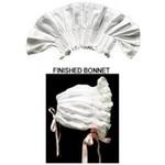 Martha Pullen RW-SLBON WHITE Pleated Lace-Edged Bonnet Size Newborn