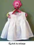 Big Girls Linen Dress with Hemstitching- White 1-(6-12MO)
