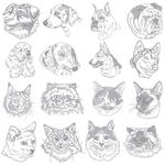 Dakota Collectibles 970536 Light Stitch Dogs Multi-Formatted CD Embroidery Machine Designs