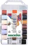 Madeira 9350 Incredible Threadable Box 40 Spool Lana and Cotona Cotton Quilting Thread Kit