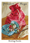 Valori Wells Designs 93-6277 Drawstring Project Bags Sewing Cards for Bottom, large 9x12in, medium 7x9in, and small 5x8in